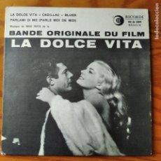 Discos de vinilo: BSO: LA DOLCE VITA, FEDERICO FELLINI- NINO ROTA - EP FRANCE 1960.. Lote 294866013