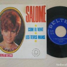 Discos de vinilo: SALOME - COM EL VENT / LES TEVES MANS - 9º FESTIVAL DE LA CANCION MEDITERRANEA SINGLE 1967 NM / VG+. Lote 294905713