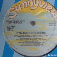Discos de vinilo: DYNAMIC BREAKERS – DYNAMIC (TOTAL CONTROL) - MAXI SINGLE DYNAMIC VIEW 1984 PROMO - DISCO HIP HOP. Lote 294927198