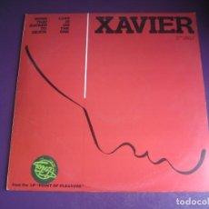 Discos de vinilo: XAVIER - WORK THAT SUCKER TO DEATH / LOVE IS ON THE ONE - MAXI SINGLE LIBERTY 1981 - P FUNK DISCO 80. Lote 294931013