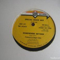Discos de vinilo: HI VOLTAGE – SOMEWHERE BEYOND / LET'S GET HORNY - MAXI SINGLE ONE WAY RECORDS 1982 - FUNK DISCO 80'. Lote 294932293