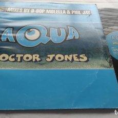 Discos de vinilo: AQUA – DOCTOR JONES-LP-DINAMARCA-PROMO-1997-. Lote 294941348