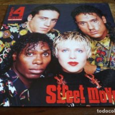Discos de vinilo: TWENTY 4 SEVEN - STREET MOVES - LP ORIGINAL BLANCO Y NEGRO 1990 ENCARTE Y LETRAS. Lote 294941438