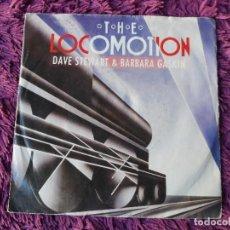 "Discos de vinilo: DAVE STEWART & BARBARA GASKIN – THE LOCOMOTION, VINILO, 7"" SINGLE 1984 GERMANY 885 177-7. Lote 294945618"