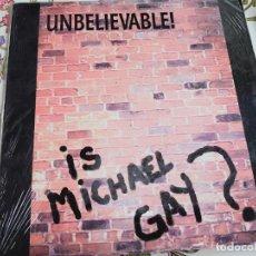 """Discos de vinilo: UNBELIEVABLE! – IS MICHAEL GAY? 1992. BOY RECORDS – BOY-116. (12""""),NUEVO. MINT / MINT. ITALO DISCO. Lote 294952458"""