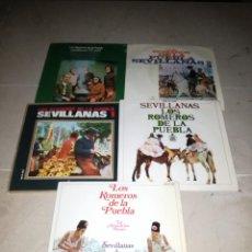 Discos de vinilo: LOTE DE 5 EPS DE LOS ROMEROS DE LA PUEBLA. Lote 294955373