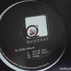 "Discos de vinilo: 4DOLBY ABSURD – RIP IT OFF. SELLO: QUADRAT – QUAD2T . VINYL, (12"") 1999.NUEVO. MINT / GENERICA. Lote 294955993"