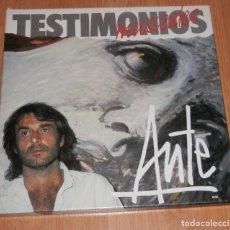 Discos de vinilo: DISCO LP VINILLO TESTIMONIOS MUSICALES DEL CANTANTE AUTE. Lote 294957038