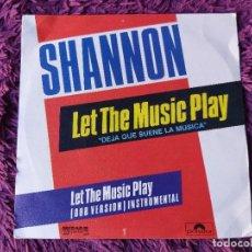 """Discos de vinilo: SHANNON – LET THE MUSIC PLAY , VINILO, 7"""" SINGLE 1983 SPAIN 817 045-7. Lote 294958758"""