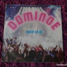 "Discos de vinilo: DOMINOE – HERE I AM, VINILO, 7"" SINGLE 1987 GERMANY PB 41479. Lote 294960193"