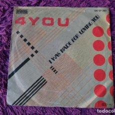 "Discos de vinilo: 4-YOU – I WAS MADE FOR LOVING YOU, VINILO, 7"" SINGLE 1986 GERMANY 100·07·393. Lote 294960633"