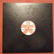 Discos de vinilo: FINI TRIBE - DE TESTIMONY FINIFLEX MADE IN UK. Lote 294961043