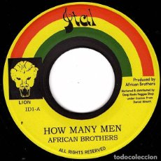 """Discos de vinilo: AFRICAN BROTHERS - HOW MANY MEN - 7"""" [ITAL, 2019] ROOTS REGGAE DUB. Lote 294961968"""