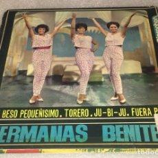 Discos de vinilo: EP HERMANAS BENITEZ - UN BESO PEQUEÑISIMO Y OTROS TEMAS - DISCOPHON 27.286 -PEDIDO MINIMO 7€. Lote 294961973