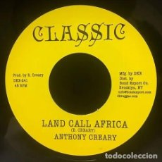 """Discos de vinilo: ANTHONY CREARY - LAND CALL AFRICA - 7"""" [CLASSIC / BOND EXPORT, 2017] ROOTS REGGAE DUB. Lote 294962188"""