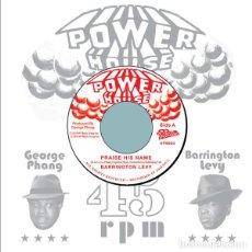 "Discos de vinilo: BARRINGTON LEVY - PRAISE HIS NAME - 7"" [POWER HOUSE / VP RECORDS, 2020] ROOTS REGGAE DUB. Lote 294962408"