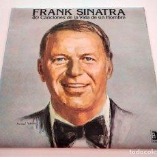 Discos de vinilo: VINILO DOBLE LP RECOPILATORIO DE FRANK SINATRA. 40 CANCIONES DE LA VIDA DE UN HOMBRE. 1977.. Lote 294962718