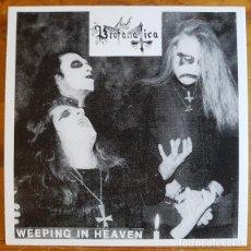 """Discos de vinilo: PROFANATICA - WEEPING IN HEAVEN - 7"""" [HELLS HEADBANGERS, 2020 · VINILO NEGRO] BLACK METAL. Lote 294963973"""