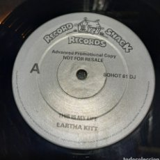 Discos de vinilo: EARTHA KITT - THIS IS MY LIFE. PROMOCIONAL. Lote 294975768