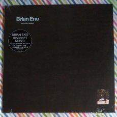 Discos de vinilo: BRIAN ENO - DISCREET MUSIC 12'' LP NUEVO Y PRECINTADO - AMBIENT EXPERIMENTAL AVANT-GARDE. Lote 294977928