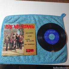 Discos de vinilo: MS-1. LOS MUSTANG, AUTOGRAFIADO - ¡SOCORRO! + 3 TEMAS - EMI 7EPL 14.225 ESPAÑA 1965.. Lote 294982588