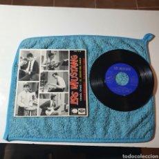 Discos de vinilo: MS-1. LOS MUSTANG, AUTOGRAFIADO - CHAO, CHAO + 3 TEMAS - EMI - 7EPL 14.150 ESPAÑA 1965.. Lote 294983873