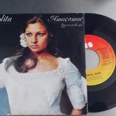 Discos de vinilo: LOLITA-SINGLE AMOR AMOR. Lote 294998728