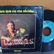 Discos de vinilo: LORENZO SANTAMARIA-SINGLE PARA QUE NO ME OLVIDES. Lote 295001783