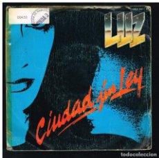 Discos de vinilo: LUZ CASAL - CIUDAD SIN LEY / VOY - SINGLE 1983. Lote 295007653