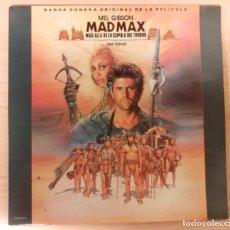 Discos de vinilo: MAD MAX MÁS ALLÁ DE LA CUPULA DEL TRUENO MAURICE JARRE, TINA TURNER CAPITOL RECORDS CON POSTER. Lote 295010448