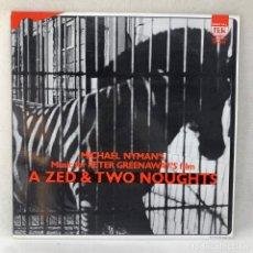 Discos de vinilo: LP - VINILO MICHAEL NYMAN - MUSIC FOR PETER GREENAWAY'S FILM A ZED & TWO NOUGHTS - ESPAÑA - 1988. Lote 295014948