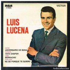 Discos de vinilo: LUIS LUCENA - ANIVERSARIO DE BODA + 3 - EP 1963 - SOLO PORTADA, SIN VINILO. Lote 295015328