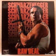 Discos de vinilo: RAW DEAL (EJECUTOR) CINEMASCORE DISCOS VINILO 1986 MUY RARO Y COMO NUEVO!!. Lote 295016318