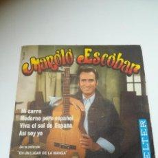 Discos de vinilo: SINGLE. MANOLO ESCOBAR. MI CARRO / MODERNO PERO ESPAÑOL / VIVA EL SOL DE ESPAÑA / ASI SOY YO. 1970. Lote 295021893