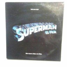 """Discos de vinilo: DISCOS BANDA SONORA ORIGINAL SUPERMAN EL FILM DOBLE LP WARNER 1978 JOHN WILLIAMS, """"POSTER"""" SUPERMAN. Lote 295021963"""