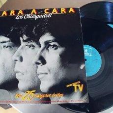 Discos de vinilo: LOS CHUNGUITOS-LP DOBLE- CARA A CARA-GATEFOLD. Lote 295025493