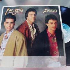 Discos de vinilo: LOS CALIS-LP AMANDOTE-NUEVO. Lote 295027608