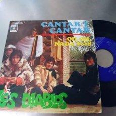 Discos de vinilo: LOS DIABLOS-SINGLE CANTAR Y CANTAR. Lote 295029628