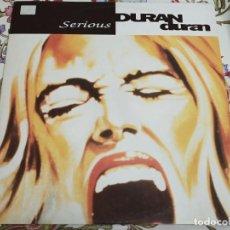 """Discos de vinilo: DURAN DURAN – SERIOUS. PARLOPHONE – 14 2040656 (12""""), MAXI. 1990 ,ITALY. NUEVO. MINT / VG+++. Lote 295036418"""