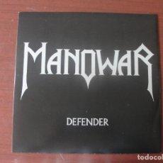 Discos de vinilo: EP MAXI MANOWAR DEFENDER EL ORIGINAL NUEVO IMPECABLE MUSIC FOR NATIONS. Lote 295036648