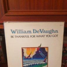 Discos de vinilo: WILLIAM DEVAUGHN / BE THANKFUL.... / ROXBURY RECORDS 1974. Lote 295038958