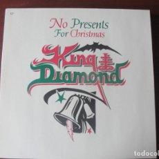 Discos de vinilo: EP MAXI KING DIAMOND NO PRESENTS FOR CHRISTMAS NUEVO. Lote 295039528