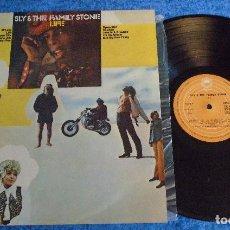 Discos de vinilo: SLY & THE FAMILY STONE SPAIN LP 1979 LIFE PSYCHEDELIC FUNK SOUL PSYCH POP ROCK EPIC MUY BUEN ESTADO. Lote 295040223