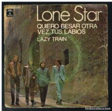 Discos de vinilo: LONE STAR - QUIERO BESAR OTRA VEZ TUS LABIOS / LAZY TRAIN - SINGLE 1970 - SOLO PORTADA, SIN VINILO. Lote 295040403