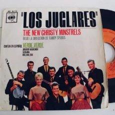 Discos de vinilo: LOS JUGLARES THE NEW CHRISTY MINSTRELS-EP VERDE VERDE +3-CANTAN EN ESPAÑOL. Lote 295042013