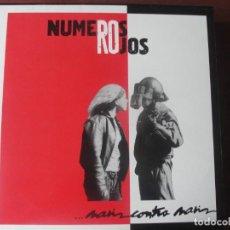 Discos de vinilo: LP NUMEROS ROJOS NARIZ CONTRA NARIZ NUEVO ROCK URBANO. Lote 295042388