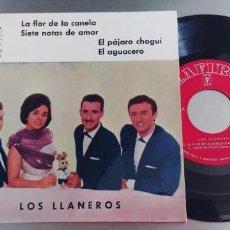 Discos de vinilo: LOS LLANEROS-EP LA FLOR DE LA CANELA +3-NUEVO. Lote 295042473