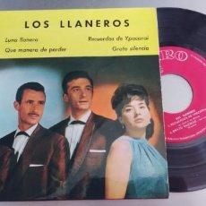 Discos de vinilo: LOS LLANEROS-EP LUNA LLANERA +3-BUEN ESTADO. Lote 295042673
