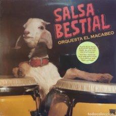 Discos de vinilo: LP ORQUESTA EL MACABEO - SALSA BESTIAL - VAMPI 149 - 2013 - NUEVO / PRECINTADO!!!. Lote 295044488