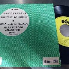 Discos de vinilo: LOS POLIEDRICOS-EP TODOS A LA LUNA +3-NUEVO. Lote 295047898